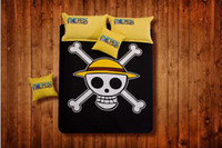 4 pcs Printed,Diagonal Printing,Rotary Screen  1.5m (5 feet),1.8m (6 feet) Personalized fashion trend of the brief paragraph of 100% cotton bedding 100% piece cotton bedding set black yellow skull Linens