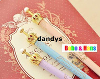 Wholesale Children s stationery New type cute crown ball pen Fashion lady Style pen Promotion dandys