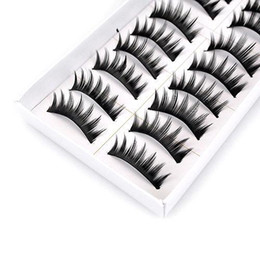 Wholesale S9Q set Natural Long Black Thick Fake False Eye Lashes Eyelashes Makeup AAAAMG