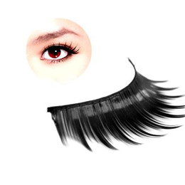 Wholesale S5Q Pairs Natural Long Black Thick Fake False Eye Lashes Eyelashes Makeup Set AAAAMG