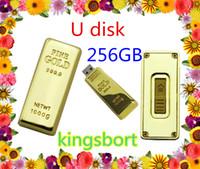 Wholesale GB Flash disk Fashion Gold bar USB U disk plug and play Flash Memory USB flash driver High Quality FREE DHL Place an