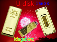 Wholesale GB Flash disk Fashion Gold bar USB U disk plug and play Flash Memory USB flash driver High Quality FREE DHL Place an