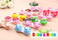 Wholesale Children s stationery New cute cartoon animals styles contact lenses case amp box lens Companion box dandys