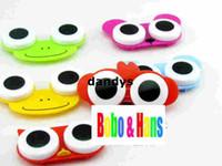 Wholesale Children s stationery New cute cartoon animals eyes contact lenses box amp case lens Companion box dandys