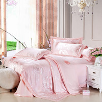 Twill other Yes high quality 4pcs silk BRAND desgin printed bed in bag king queen bedding set bed sheet set quilt cover duvet cover set