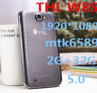 THL W8S 2G RAM 32GB ROM + Android 4.2 5quot núcleo MTK6589 quad el envío ¡NUEVO; Pantalla IPS 1920 teléfono * 1080 3MP + 13MP WCDMA 3G GPS dual sim