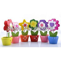 Wholesale Assorted Flower Pot Placecard Holders Set of Pieces Garden Wedding Favors