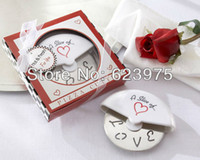 Wholesale A Slice of Love Stainless Steel Pizza Cutter in Miniature Pizza Box Set of Boxes
