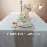 Wholesale pieces Burlap Table Runner Wedding Decoration