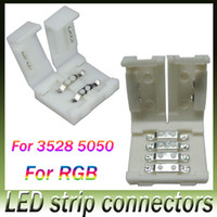 Wholesale New led strip connectors for mm and mm smd and pin DC RGB LED strips light no welding quick led