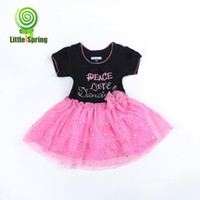 TuTu Summer A-Line 2013 summer baby princess dress, chest letters patterned lace dress baby conjoined jnmv