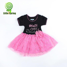 Wholesale 2013 summer baby princess dress chest letters patterned lace dress baby conjoined jnmv