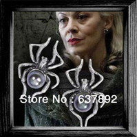 Wholesale Low priceWholesale Narcissa Malfoy Spider Earrings in Owl Post Pouch Harry Potter Witch Wicca hot sale