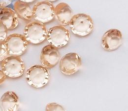 Wholesale 500pcs set Carat mm gold shadow diamond confettis wedding favor table scatter diamond confetti acrylic bead weding party decoration