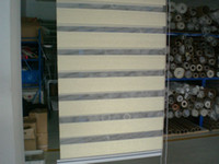Wholesale Factory outlets polyester no formaldehyde light yellow customized zebra blinds SH2104
