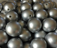 Wholesale Metallic Silver mm Chunky Gumball Pearl Beads Round for Chunky Jewelry