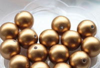 gumball beads - Chunky Gumball mm Round Antique Brass Pearl Beads
