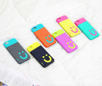 For Samsung Plastic For Christmas Hybrid Dual Color Case Smiling Face Pattern Back Cover PC+TPU Case for Samsung Galaxy S4 i9500 note 2 n7100 Note 3 N9000 iphone 4 iphone 5