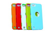 Wholesale Cute colorful slim defender silicone case cover skin for ipod touch built in screen protector shockproof dirtproof quality assurance