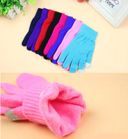 Wholesale On Sale Outdoor Women Thermal Thickening Windproof Hiking Ride Touch Gloves For Iphone Apad Red Black Grey pairs color mixed