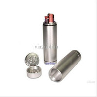 Wholesale All in One Metal Dugout Grinder Poker Black amp Silver Randomly