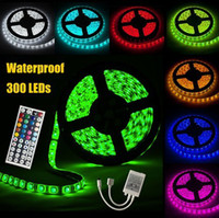 Wholesale Waterproof IP65 RGB M SMD Flexible LED Strips Lights led leds Meter without power Christmas Light Fedex best2011