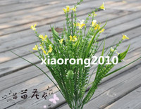 Wholesale High Quality cm quot Length Artificial Silk Flowers Simulation Green Plant Plastic Flower Floral Accessories Home Decoration