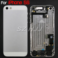 Wholesale For iPhone S Full Housing Assembly Alloy Replacement Back Cover Door with Side Button and Flex Cable For iphone S