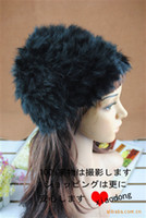 Wholesale Hot winter Hand knitted rabbit fur hat warm hat qjq405