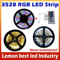 Wholesale M RGB Warm White Cool White LED Strip SMD Leds No waterproof key IR Remote For Home Garden Decoration