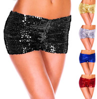 Wholesale Women s new sexy shiny sequins mini shorts hot pants B145