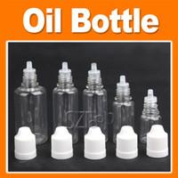 Wholesale Plastic Dropper Bottle Empty E Liquid Bottle Oil Bottle Mixed Size ml mult color via DHL