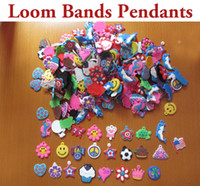 12-24M Multicolor PVC 1000pcs lot Rainbow Loom Bands Kit Pendants,Mixed Styles Loom Bands Kit Charms,Bracelet Braided Pendants
