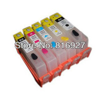 Wholesale guaranteed For hp564 refill printer B8550 B8500 refillable ink cartridge with permanent chips