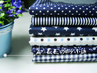 Wholesale blue Series Cotton fabric Patchwork fabric Square Fat Quater Bundle Quilting cm