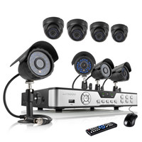 Wholesale ZMODO tvl home camera security system CH DVR CCTV KITS Dome Bullet outdoor indoor day night vision IR High Resolution Surveillance