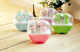 Wholesale 10 Sets New arrivals Lovely Apple Shaped in Nail arts Fashion Practical cosmetology Manicure tools Kits