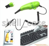 Wholesale Hottest Christmas Mini Computer Vacuum Black Small USB Brush Flexible Rubber Computer PC Keyboard Cleaner With Retail Package