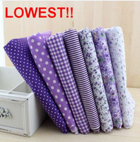 Wholesale New Pieces cm Purple color Series Cotton Fabric Patchwork Pre cut Fabric Square Quilting Cloth Freeshipping