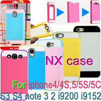 For Apple iPhone Plastic For Christmas NX PC + TPU 3in1 Card slot Case Cover For galaxy S4 i9500 S3 i9300 note 3 N9000 2 N7100 i9080 Mega 6.3 i9200 5.8 i9152 iphone 4 4S 5 5S 5C