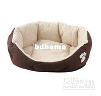 best dogs for house pets - dog bed pet product for dog cat rabbit size L Soft material brown white best price