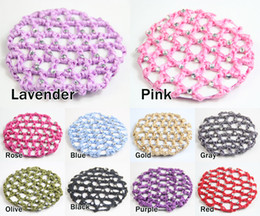 Wholesale 12 Beautiful Bun Cover Snood Hair Net Ballet Dance Skating Crochet with Diamond