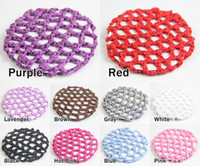 Pony Tails Holder ballet bun - One dozen Bun Cover Snood Hair Net Ballet Dance Skating Crochet Beautiful Colors