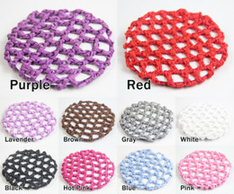 Wholesale One dozen Bun Cover Snood Hair Net Ballet Dance Skating Crochet Beautiful Colors