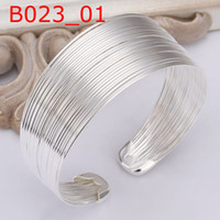 Wholesale hot hot sale Sterling Silver fashion jewelry new chain bangle bracelet B23