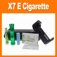 Wholesale X7 E cigarettes bamboo shape E cigarette copper battery tube mAh battery CE4 atomizer packaged by Zipper case 0212014