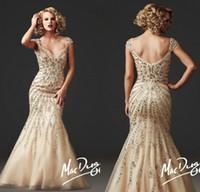 Wholesale No risk pretty color applique rhinestone floor length mermaid evening Dress Prom Party Dress formal pageant dress