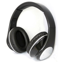Wholesale E Bluetooth Headphone TF Card With FM Radio Bluetooth v3 EDR Stereo Wireless Headphone Headset Support Calling Newest