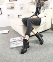 Wholesale 2013 Winter Women s Fashion leather Boots Black Pointed Toes high heels shoes For Lady