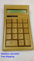 Wholesale NEW Bamboo calculator digits handmade natural bamboo solar calculator